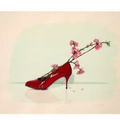 Red Shoes Diary (Berlin #3) drawing